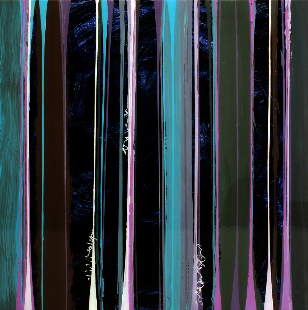 Pat O'Hara - Linearity - Dark, Acrylic on Panel with Resin, Unframed,  - Bau-Xi Gallery