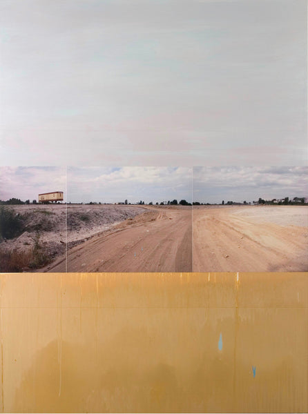 Andre Petterson - Ochre Earth, Mixed media on panel , Unframed,  - Bau-Xi Gallery