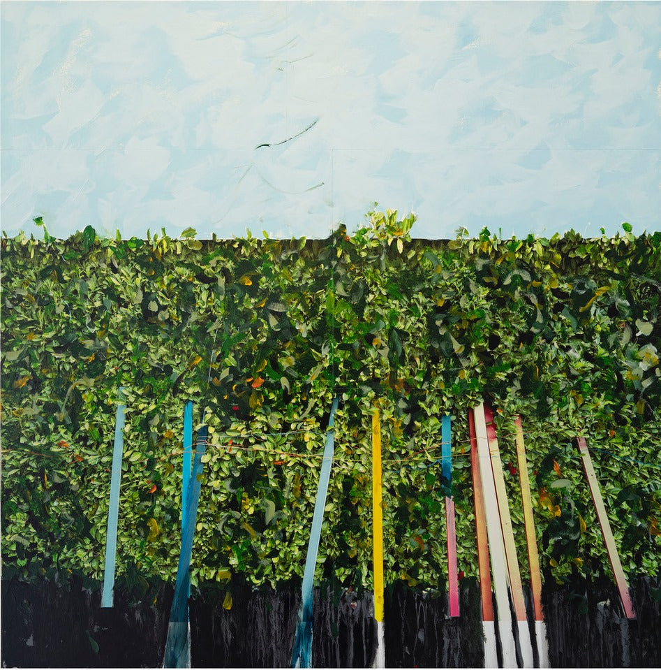 Andre Petterson - Thicket, Mixed Media on Panel, Unframed,  - Bau-Xi Gallery
