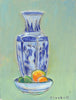 Joseph Plaskett - Chinese Vase & Fruit, Oil on Canvas,  - Bau-Xi Gallery