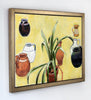 Joseph Plaskett - Clivia and Pots, Oil on Canvas, Framed in Brushed Silver,  - Bau-Xi Gallery