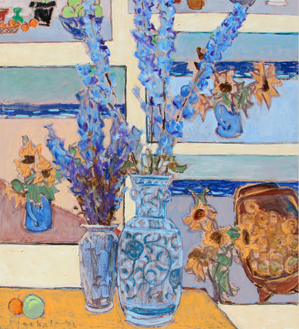 Delphinium With Paintings 2