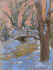 Joseph Plaskett - Snow 4, Pastel on Paper, Framed,  - Bau-Xi Gallery