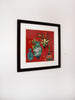 Joseph Plaskett - Square Still Life 1, Woodcut, Framed,  - Bau-Xi Gallery
