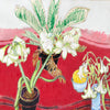 Joseph Plaskett - White Amaryllis, White Lilies, Melon, Oil on Canvas, Framed in Brushed Silver,  - Bau-Xi Gallery
