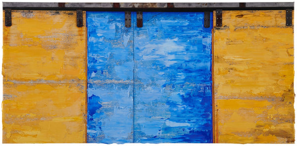 Anthony Redpath - Additive Door - 17.5x36 in. - $5,050, Oil and Digital Print on Canvas, Unframed,  - Bau-Xi Gallery