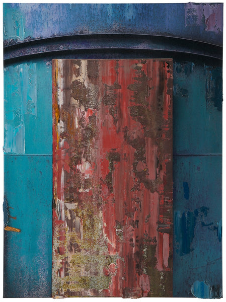 Anthony Redpath Artwork Duncan Door II - 36x27 in. - $7,800 | Highly detailed, monochromatic composite photographs of coastal and industrial architecture.