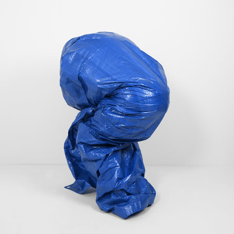 Blue Tarp Self Portrait  - Version 1 - 3 sizes, $1,350-$4,300
