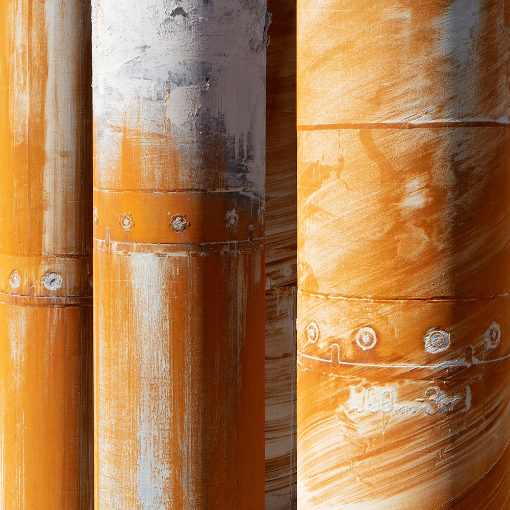 Chris Shepherd - Piling Drill Casings - 3 sizes, $1,350-$4,300, Archival Pigment Print Mounted to Archival Substrate, Framed in White with Glass,  - Bau-Xi Gallery