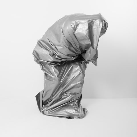 Silver Tarp Self Portrait  - Version 1 - 3 sizes, $1,350-$4,300