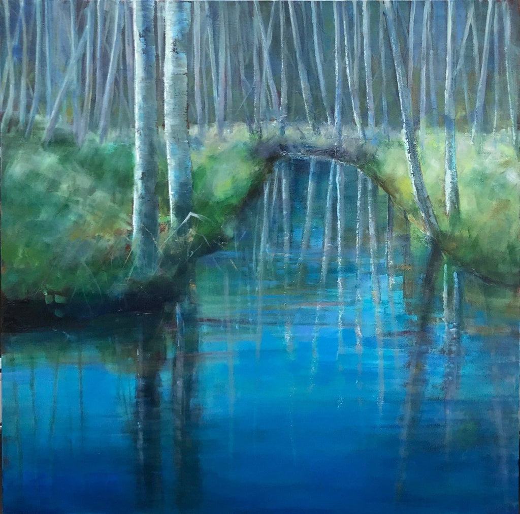 Stuart Slind - Reflections, Alders, Oil on Canvas, Unframed,  - Bau-Xi Gallery