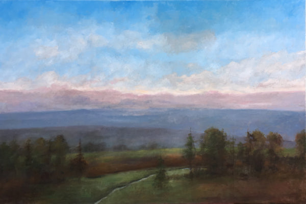 Stuart Slind - Twilight Over the Meadow, Oil on Canvas, Unframed,  - Bau-Xi Gallery