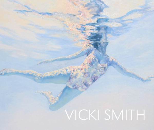 Vicki Smith Artwork 10th Anniversary Book, Vicki Smith, 2020 (28 pages) - soft cover | Paintings of peaceful serene female figures swimming or floating in lakes and pools.