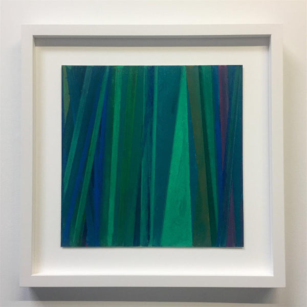 Vicky Christou - Sway, Oil Pastel on Paper, Framed in White with Museum Glass,  - Bau-Xi Gallery