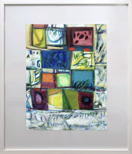 Sylvia Tait - Variations on a Theme-August, Acrylic on Archival Paper, Framed in White with Glass,  - Bau-Xi Gallery