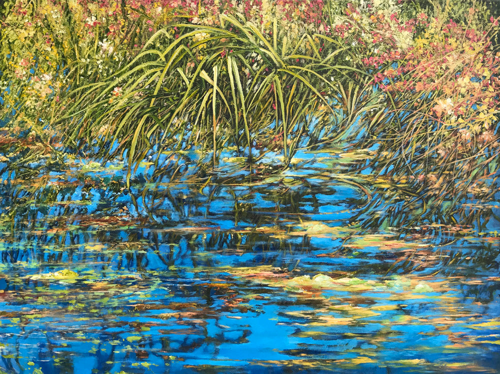 Ken Wallace - Burnaby Lake #2, Acrylic on Canvas, Unframed,  - Bau-Xi Gallery