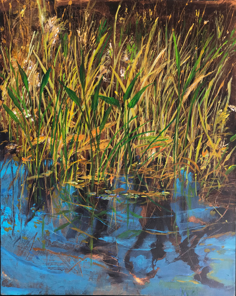 Ken Wallace - Wetlands (Reclamation) #10, Acrylic on Canvas, Unframed,  - Bau-Xi Gallery