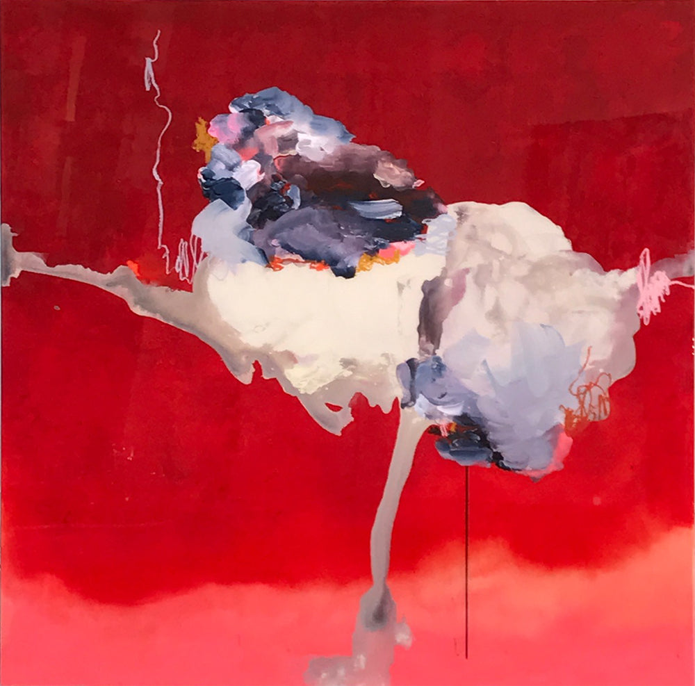 Janna Watson - Tornado Meets Volcano, Mixed Media on Panel with Resin, Unframed,  - Bau-Xi Gallery
