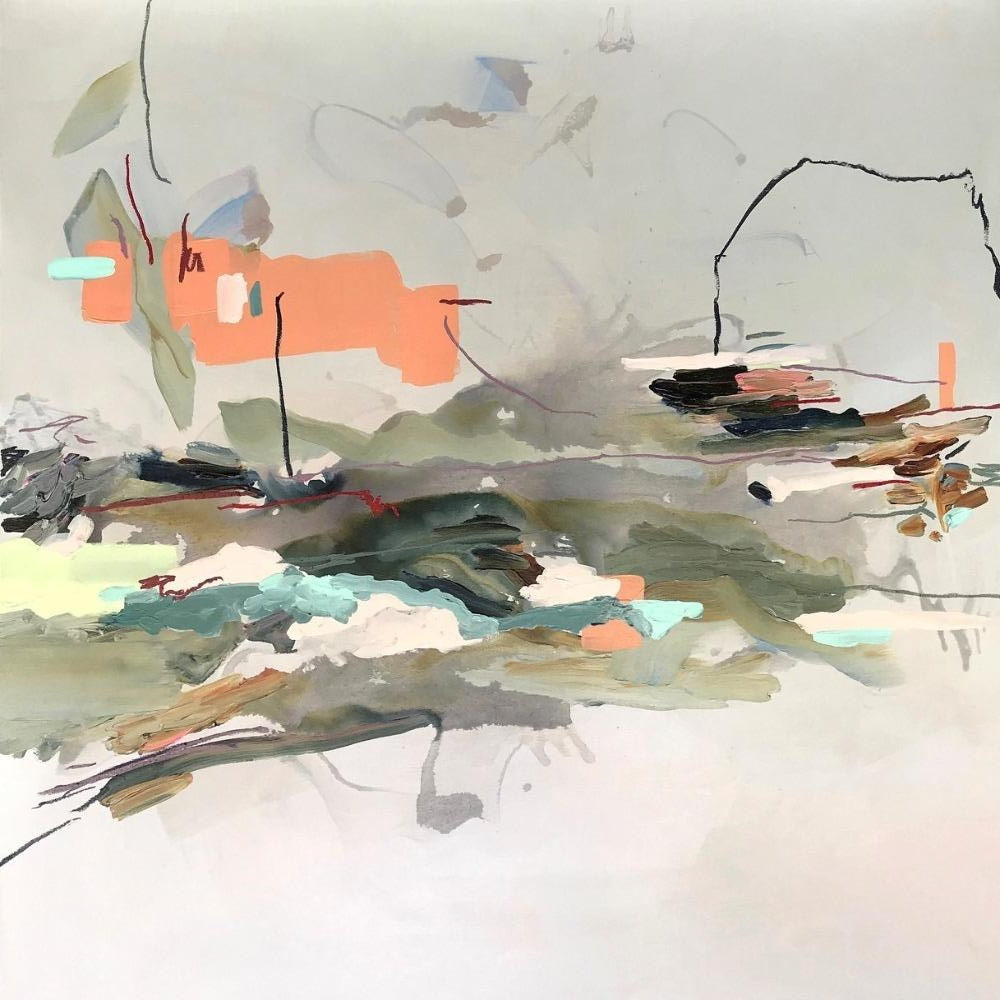 Janna Watson Artwork | Bright, colouful, expressive, gestural abstract paintings inspired by emotions.