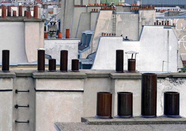 Michael Wolf - Paris Rooftops 2, Chromogenic Print Mounted to Archival Substrate, Framed in Black with Plexiglass,  - Bau-Xi Gallery