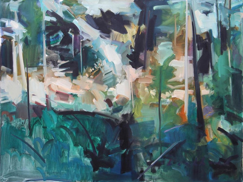 Kenneth Lochhead - Spring Interior, Oil and Acrylic on Canvas, Unframed,  - Bau-Xi Gallery