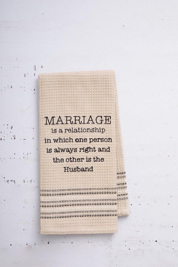 Mona B MH-154 Marriage Dishtowel