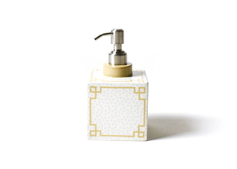 Coton Colors CC SDOT-SQSP-SMK Small Dot Square Soap Pump Smoke