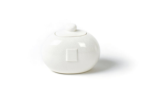 Coton Colors CC  ACCES MINI-JAR-WHT White Small Dot Mini Cookie Jar