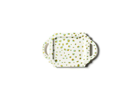 Coton Colors CC-DDT-115HTT-MNT Mint Double Dot 11.5 Handled Traditional Tray