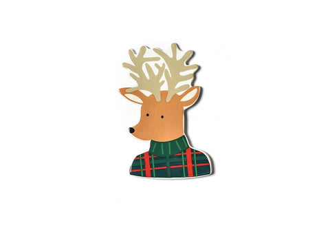Coton Colors CC ATT MINI-PLDRND Plaid Reindeer Mini Attachment