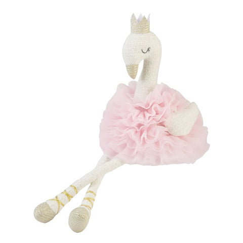 Mud Pie MP 12110001P Pink Swan Plush