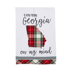 Glory Haus Inc. - GH-70100542 Very Merry GA On My Mind Tea Towel