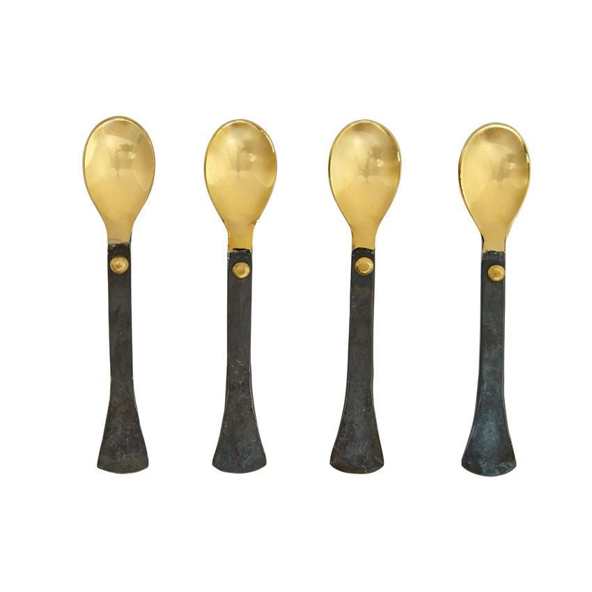 Mud Pie MP 46300058 Forged Appetizer Spoon Set