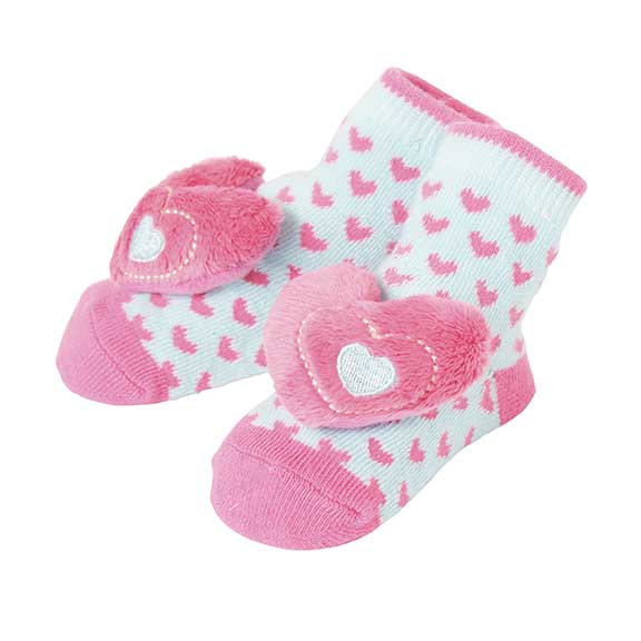 CR Gibson CRG 180-71 Heart Rattle Toe Socks