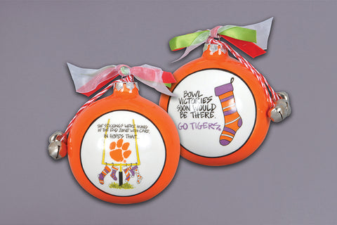Magnolia Lane ML 23149 Clemson Stocking Ornament