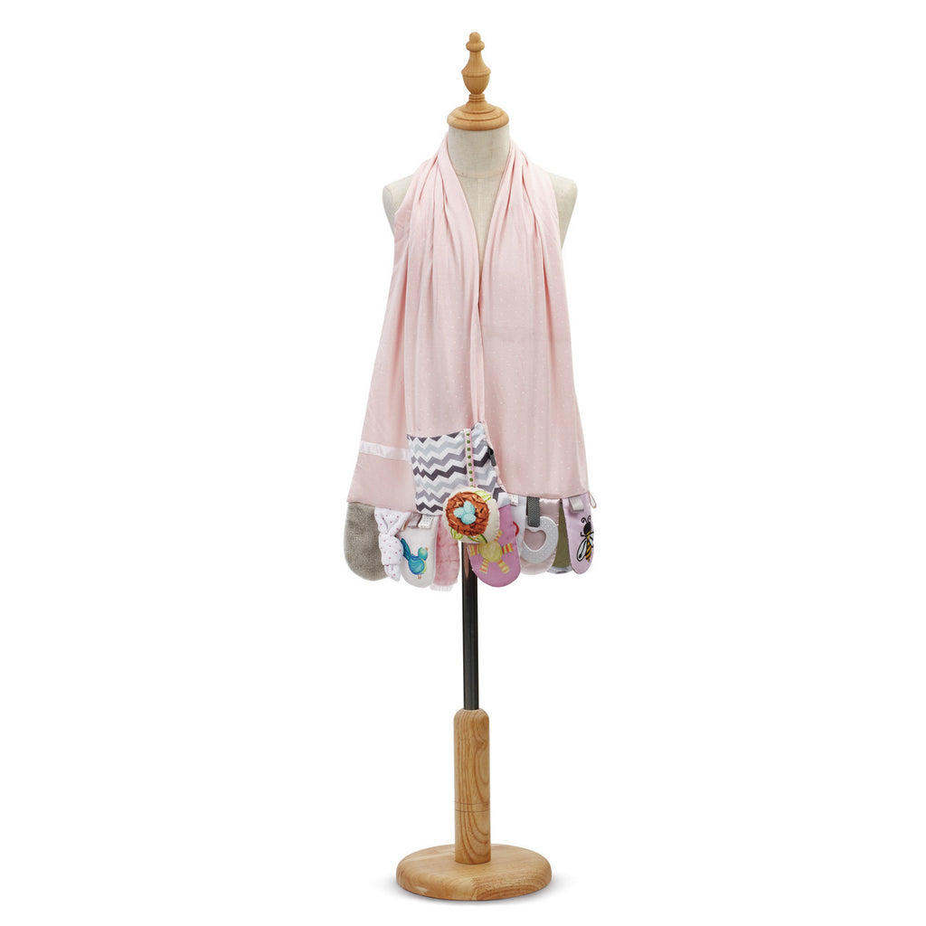 DEMDACO 5004700692 Mommy & Me Activity Scarf-Pink