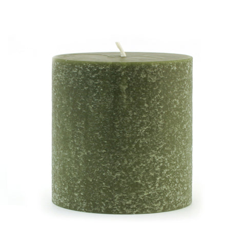 Root Candles RC 33372 Timberline 3 x 3 Dark Olive Pillar Candle