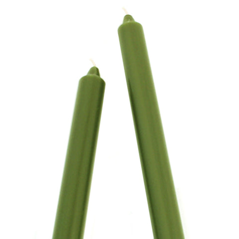 Root Candles RC 8972 Arista 9 x 7/8 Dark Olive Taper Candle
