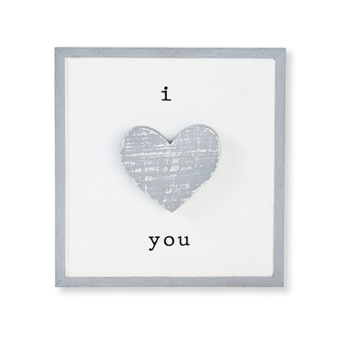 Mud Pie MP 13400002 I Love You Barnwood Plaque