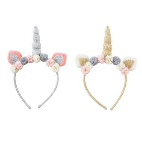 Mud Pie MP 10160017S Silver Unicorn Headband