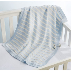 Mud Pie MP 11000046 Blue Stripe Blanket