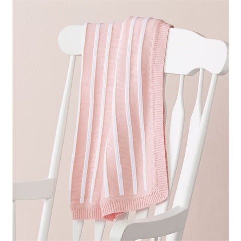 Mud Pie MP 11000047 Pink Stripe Blanket