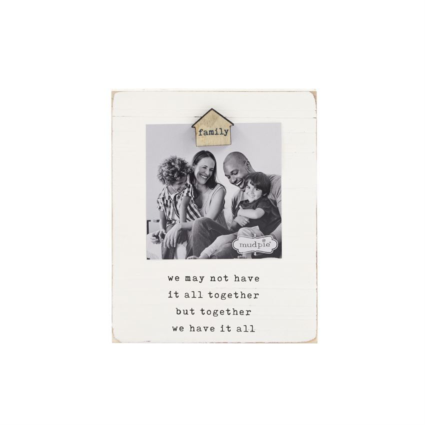 Mud Pie MP 46900176 Family Magnet Wood Frame