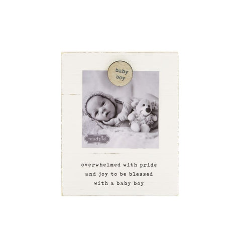 Mud Pie MP 46900184 Baby Boy Magnet Wood Frame