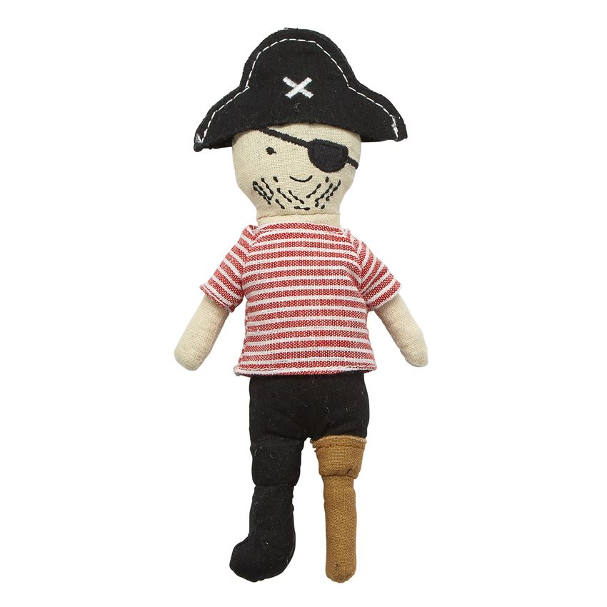 Mud Pie MP 12110041L Peg Leg Pirate Rattle