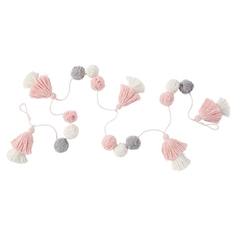 Mud Pie MP 12600046P Pink Pom Garland