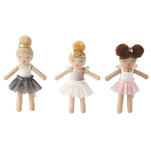 Mud Pie MP 12110042G Grey Skirt Ballerina Rattle