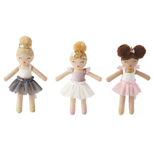 Mud Pie MP 12110042W White Skirt Ballerina Rattle