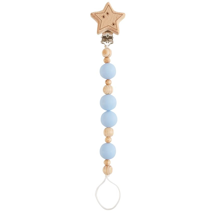 Mud Pie MP 11680012 Star Wooden Pacy Clip
