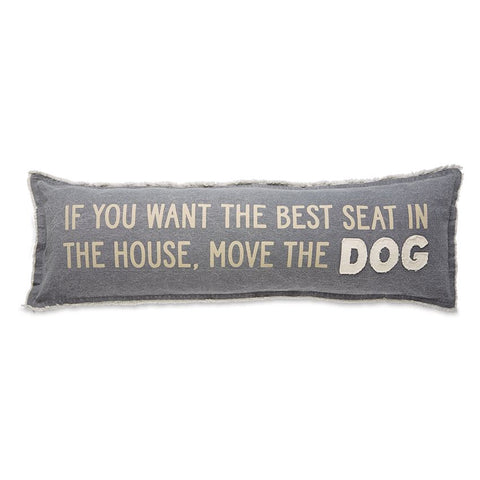 Mud Pie MP 41600064M  Move The Dog Long Pillow